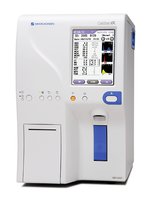 Celltac alpha MEK 6400 series fully automatic hematology analyzer